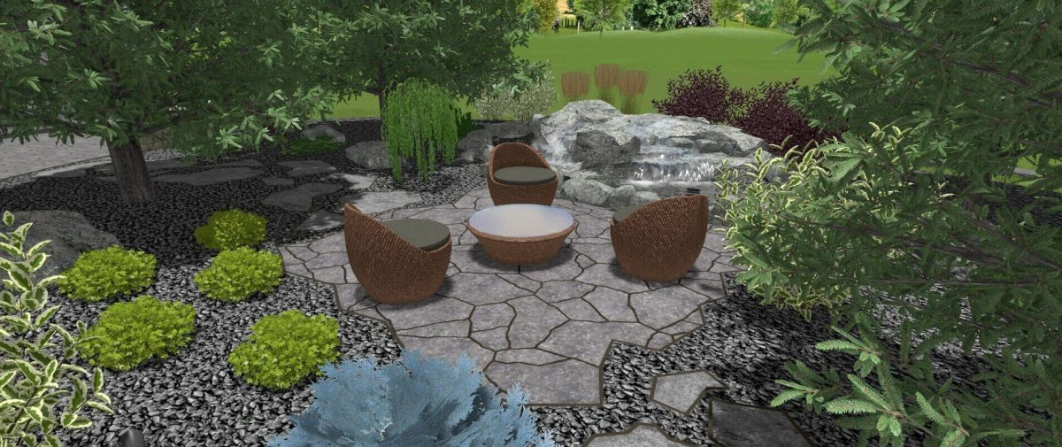 an example of a 3D landscape design from Winnipeg